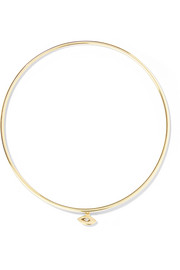 Jennifer Meyer Mini Evil Eye 18-karat gold diamond bangle