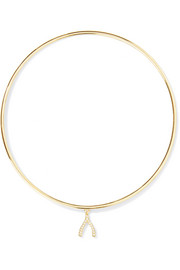 Jennifer Meyer Mini Wishbone 18-karat gold diamond bangle