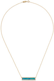 Jennifer Meyer 18-karat gold, diamond and opal necklace