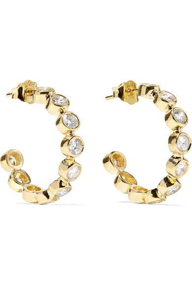 Jennifer Meyer - 18-karat Gold Diamond Hoop Earrings