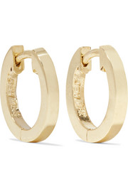 Jennifer Meyer Huggy small 18-karat gold hoop earrings