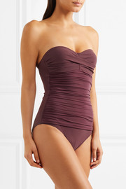 Heidi Klein Body ruched bandeau swimsuit