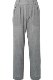 Bobbi houndstooth wool-blend pants