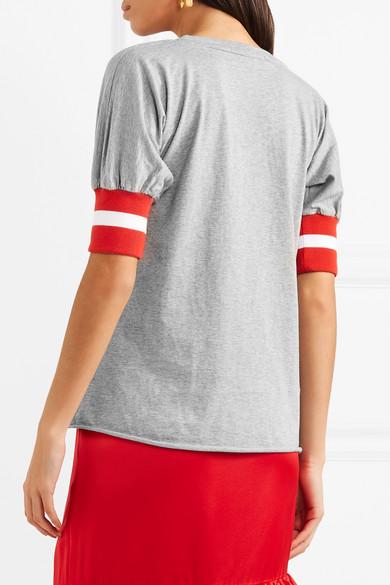 Maggie Marilyn Sunkissed T-Shirt aus Baumwoll-Jersey mit gerippten Jersey-Besätzen