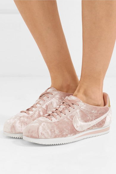 low priced b71b1 55ebe Nike | Classic Cortez crushed-velvet sneakers | NET-A-PORTER.COM