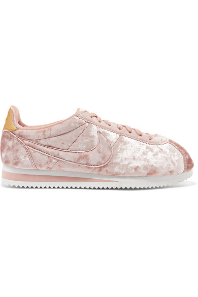 buy online a45ae 97040 Classic Cortez crushed-velvet sneakers