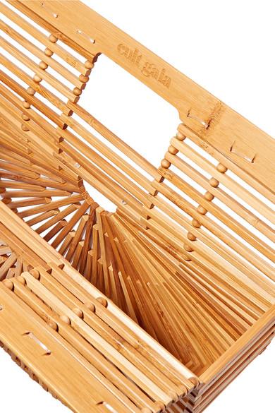 Cult Gaia Ark kleine Clutch aus Bambus