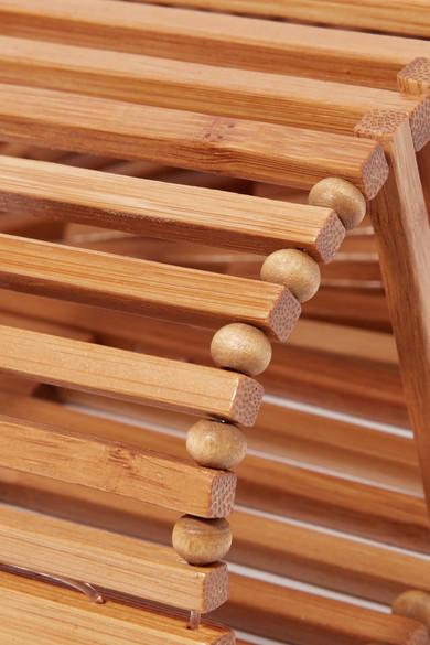 Cult Gaia Ark mini Clutch aus Bambus