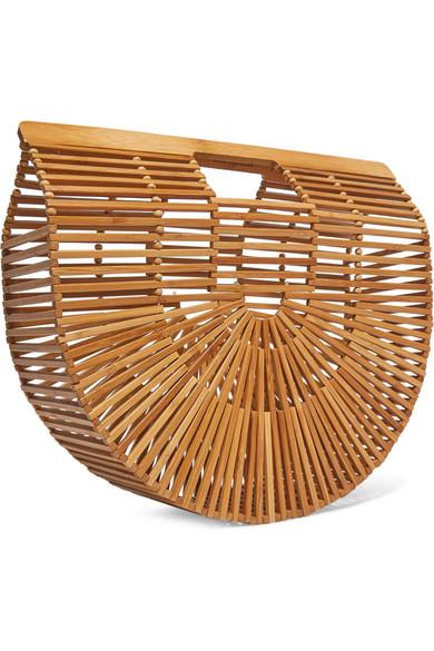 Cult Gaia Ark große Clutch aus Bambus