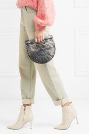 Ark mini metallic acrylic clutch