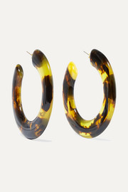 Kennedy tortoiseshell resin hoop earrings