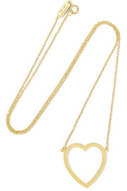 Open Heart 18-karat gold necklace