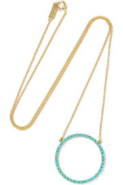 Jennifer Meyer Open Circle 18-karat gold turquoise necklace