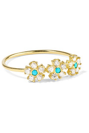 Jennifer Meyer 18-karat gold, diamond and turquoise ring