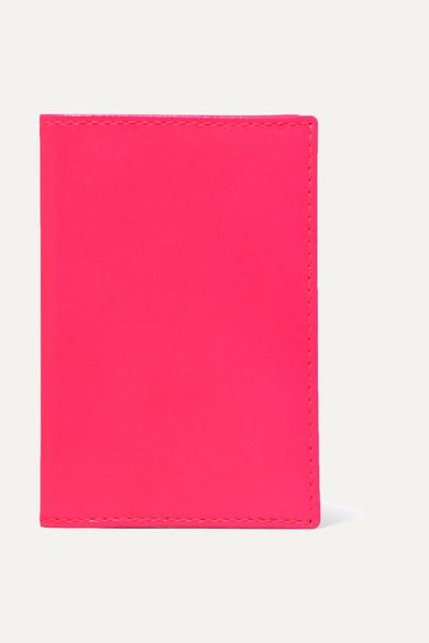 Super Fluo Neon Leather Cardholder - Bright blue Comme Des Gar?ons KBaKo