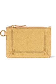 Jérôme Dreyfuss Metallic textured-leather pouch