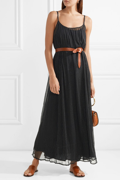 Andro Embellished Crinkled-chiffon Maxi Dress - Black Mes Demoiselles... 2sCHy