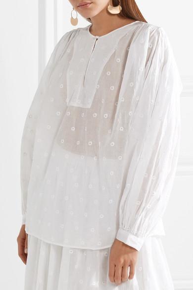 Mes Demoiselles Andromede Bluse aus besticktem Baumwoll-Voile