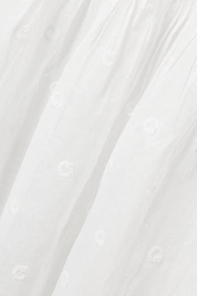 Mes Demoiselles Andromaque gestufter Maxirock aus besticktem Baumwoll-Voile