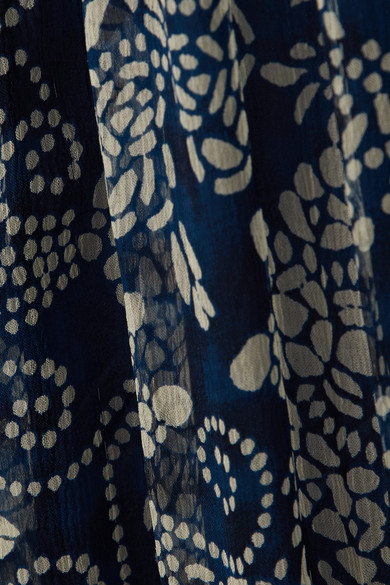 Mes Demoiselles Barathi Robe Maxi En Imprimé Krepon