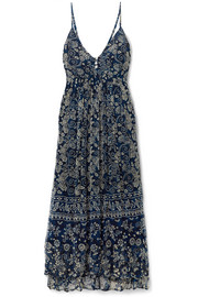Barathi printed crepon maxi dress