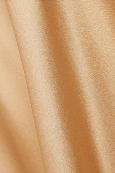 Mes Demoiselles Sequoia Slipdress aus Seidensatin mit Spitzenbesatz