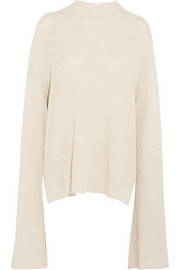 Nanushka Gia oversized ribbed cotton-blend sweater