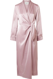 Nanushka Ezra satin wrap midi dress