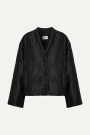 Nanushka Ling quilted satin-faille jacket