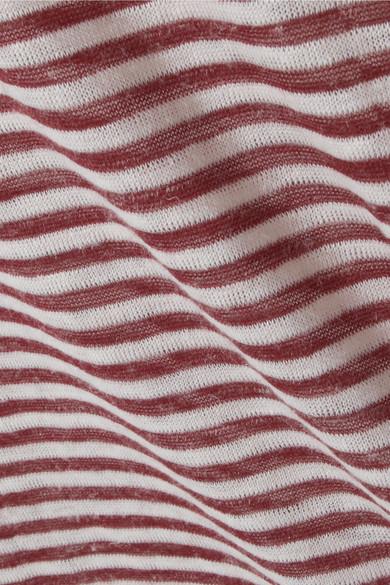 Nanushka Guy T-Shirt aus Jersey aus einer Leinenmischung mit Streifen