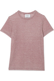 Nanushka Guy striped linen-blend jersey T-shirt