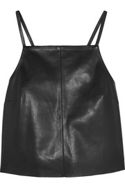 Nanushka Kate cropped faux leather top