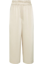 Nanushka Mesa cropped satin wide-leg pants