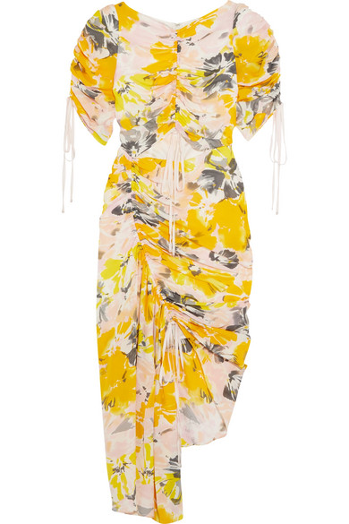 alice McCALL Soiree Kleid aus floral bedrucktem Seiden-Crêpe mit Cut-out