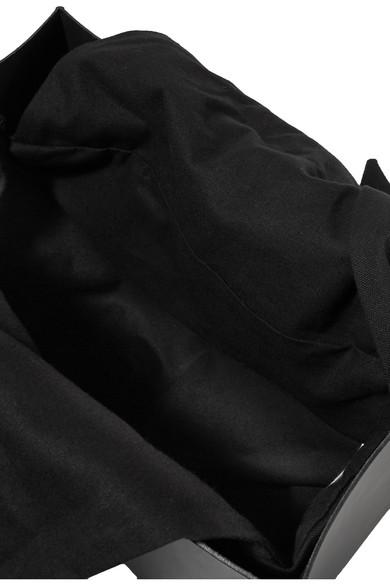 Muun Marian Tote aus Leder und Baumwoll-Canvas