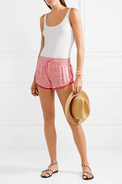 Paloma Blue Paloma bedruckte Shorts aus Seidensatin