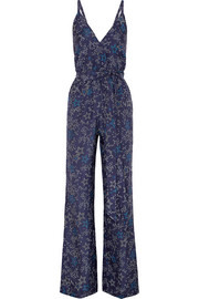 Eclipse printed silk crepe de chine jumpsuit