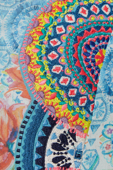 Billig Verkauf Amazon Matthew Williamson Deia Fiesta besticktes Maxikleid aus bedrucktem Seidenchiffon Kaufen Rabatt Für Billig Spielraum Footlocker Bilder hr9RN98D