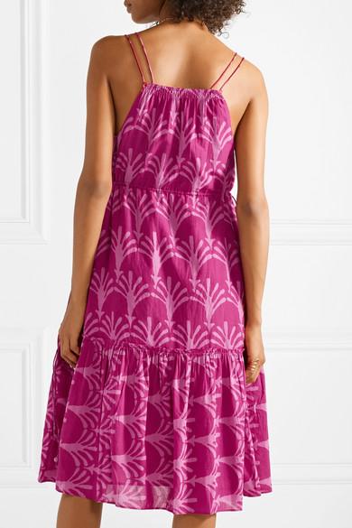 APIECE APART Daphne bedrucktes Kleid aus einer Baumwoll-Seidenmischung