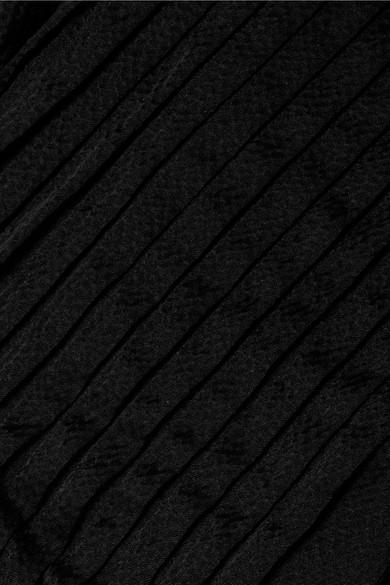 APIECE APART Bravo Bluse aus gehämmertem Seidensatin mit Falten