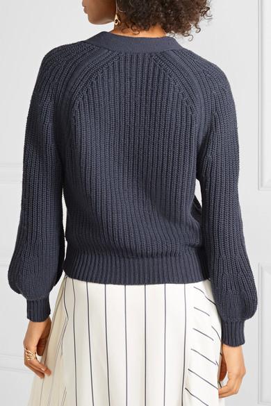 APIECE APART Astro gerippter Pullover aus einer Baumwoll-Kaschmirmischung