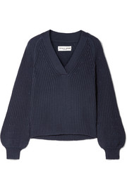APIECE APART Astro ribbed cotton and cashmere-blend sweater