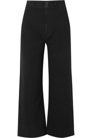Merida cropped cotton-canvas wide-leg pants