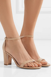 NearlyNude patent-leather sandals