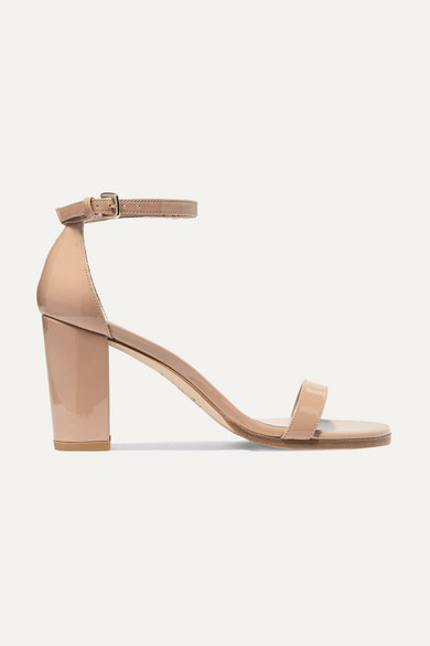 Stuart Weitzman Sandals NearlyNude patent-leather sandals