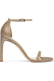 NudistSong metallic mesh sandals