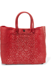 Truss Small Crossbody woven raffia-effect shoulder bag