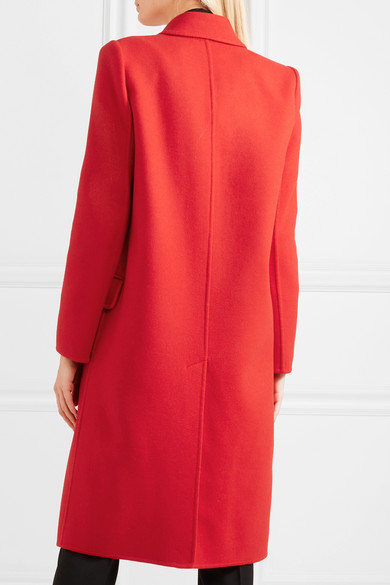 Alexander McQueen Mantel aus einer doppellagigen Woll-Kaschmirmischung