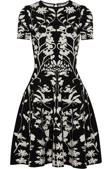 Alexander McQueen Kleid aus Stretch-Strick mit Intarsienmuster
