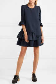 Alexander McQueen Ruffled wool-blend mini dress